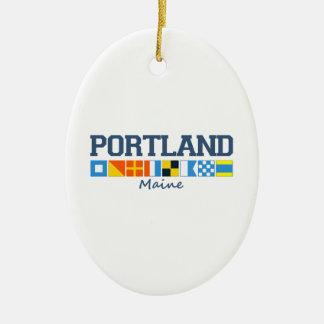 Portland Maine. Ceramic Ornament