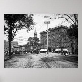 Portland, Maine Congress Square 1904 Poster