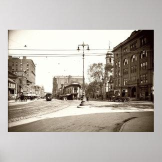 Portland, Maine Congress Square circa 1900 Poster
