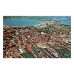 Portland, Maine Early 1960s Aerial Print