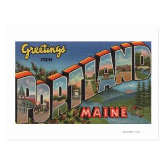 Portland, Maine (escena del río) Postal