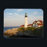 "Portland Maine Head Light Lighthouse Magnet<br><div class=""desc"">A photo magnet of the Portland Maine Main Head light lighthouse.</div>"
