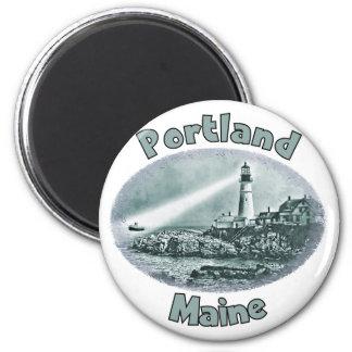 Portland, Maine Imán Redondo 5 Cm
