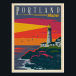 "Portland, Maine | Lighthouse Postcard<br><div class=""desc"">Anderson Design Group is an award-winning illustration and design firm in Nashville,  Tennessee. Founder Joel Anderson directs a team of talented artists to create original poster art that looks like classic vintage advertising prints from the 1920s to the 1960s.</div>"