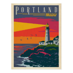 Portland, Maine | Lighthouse Postcard at Zazzle