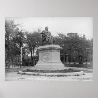 Portland, Maine Longfellow Monument circa 1890 Posters