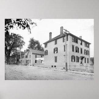 Portland, Maine Longfellow y lugares de nacimiento Poster