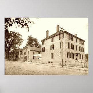 Portland, Maine Longfellow y lugares de nacimiento Posters