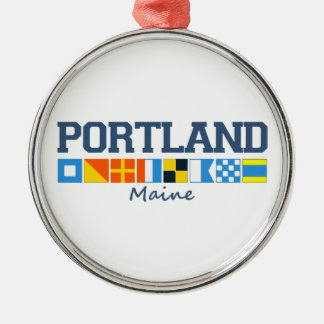 Portland Maine. Metal Ornament