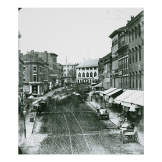 Portland, Maine Middle Street Looking West, 1863 Poster