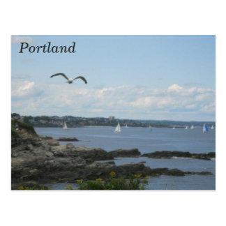 Portland Maine postcard lighthouse