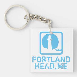 Portland Maine principal Llavero Cuadrado Acrílico A Doble Cara