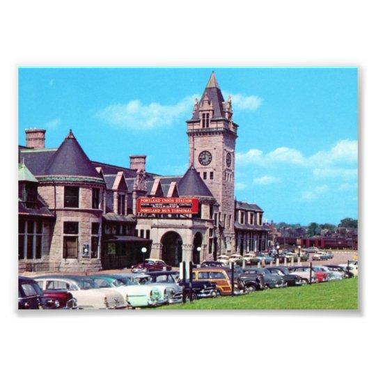 Portland, Maine Union Station 1950 Prints Photo Print