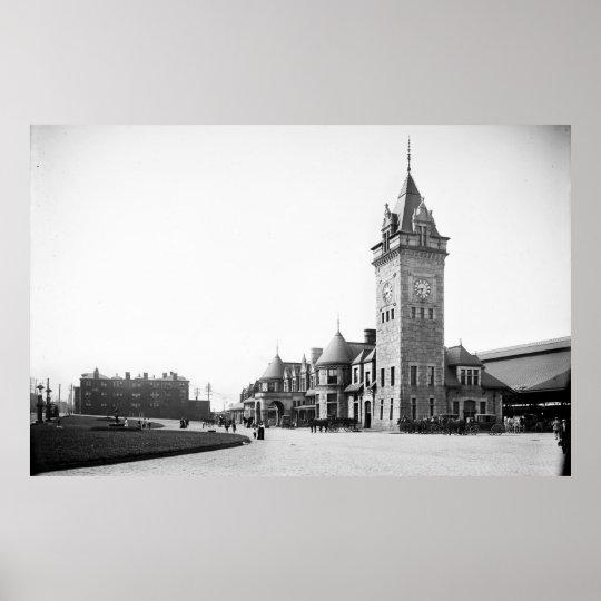 Portland, Maine Union Station Circa 1900 Poster