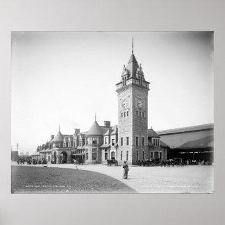 Portland, Maine Union Station circa 1904 Poster
