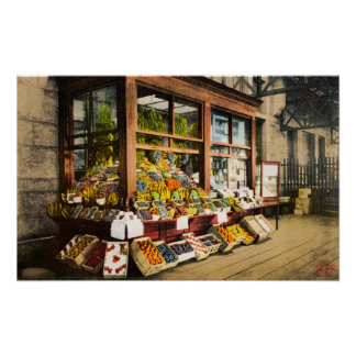 Portland, Maine Union Station Fruit Stand Poster