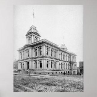 Portland Maine US Custom House circa 1890 Poster