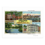 Portland, MaineGreetings From with Scenic Postcard