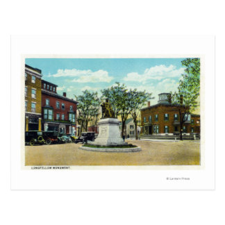 Portland, MaineLongfellow Monument and Square Postcard