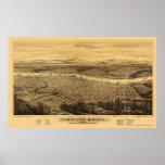 Portland, O mapa panorámico - 1879 Posters