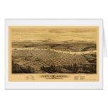 Portland, O mapa panorámico - 1879 Tarjeta De Felicitación