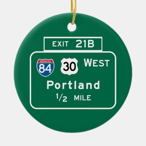 Portland, O señal de tráfico Adorno Para Reyes