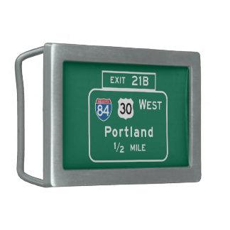Portland, O señal de tráfico Hebilla Cinturon