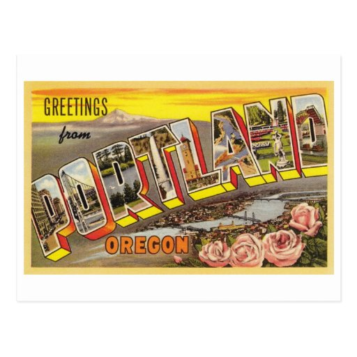 Portland, O tarjeta de letra grande Postal