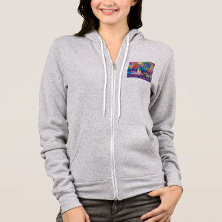 Portland OR and Mt. Hood colorful abstract drawing Hoodie