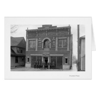 Portland, OR Fire Station #17 View Photograph Card