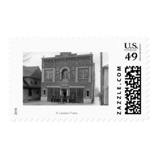 Portland, OR Fire Station #17 View Photograph Postage Stamp