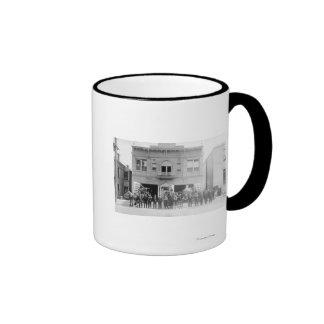 Portland, OR Fire Station Horse Drawn and Men Ringer Mug