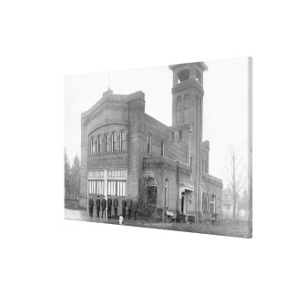 Portland, OR Fire Station View and Tower Canvas Print