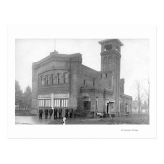 Portland, OR Fire Station View and Tower Postcard