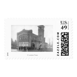 Portland, OR Fire Station View and Tower Stamp