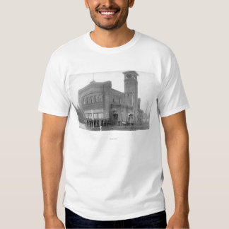 Portland, OR Fire Station View and Tower T-Shirt