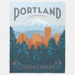 Portland, OR Fleece Blanket