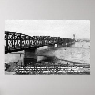 Portland, OR Pacific Highway Interstate Bridge Poster