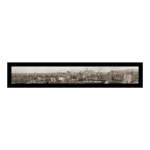 Portland OR Panorama Photo 1923 Poster