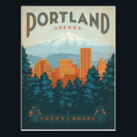 "Portland, OR Postcard<br><div class=""desc"">Anderson Design Group is an award-winning illustration and design firm in Nashville,  Tennessee. Founder Joel Anderson directs a team of talented artists to create original poster art that looks like classic vintage advertising prints from the 1920s to the 1960s.</div>"