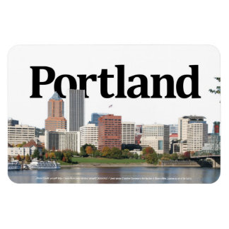 Portland Or Skyline with Portland in the Sky Rectangular Photo Magnet