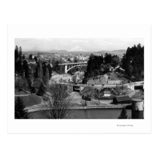 Portland, OR Town View from City Park Postcard