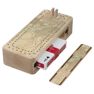Portland, Or Wood Cribbage Board