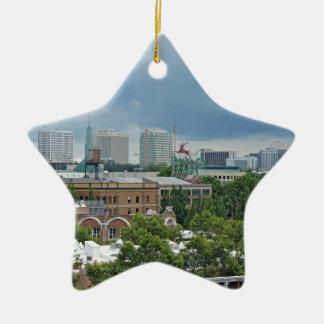 Portland Oregon Adorno Navideño De Cerámica En Forma De Estrella