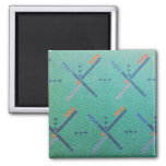Portland Oregon Airport Carpet 2 Inch Square Magnet