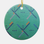 Portland Oregon Airport Carpet Double-Sided Ceramic Round Christmas Ornament