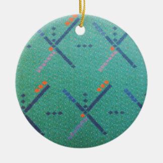 Portland Oregon Airport Carpet Christmas Tree Ornament