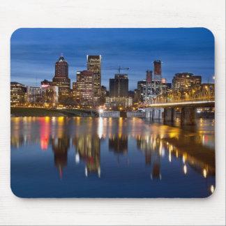 Portland Oregon at Night Mousepad