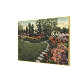 Portland Oregon - Azaleas Rhododendrons Gallery Wrapped Canvas