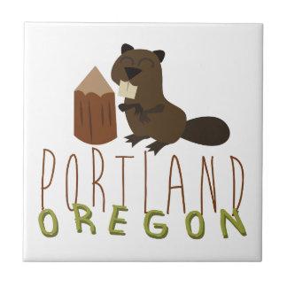 Portland Oregon Azulejo Cuadrado Pequeño